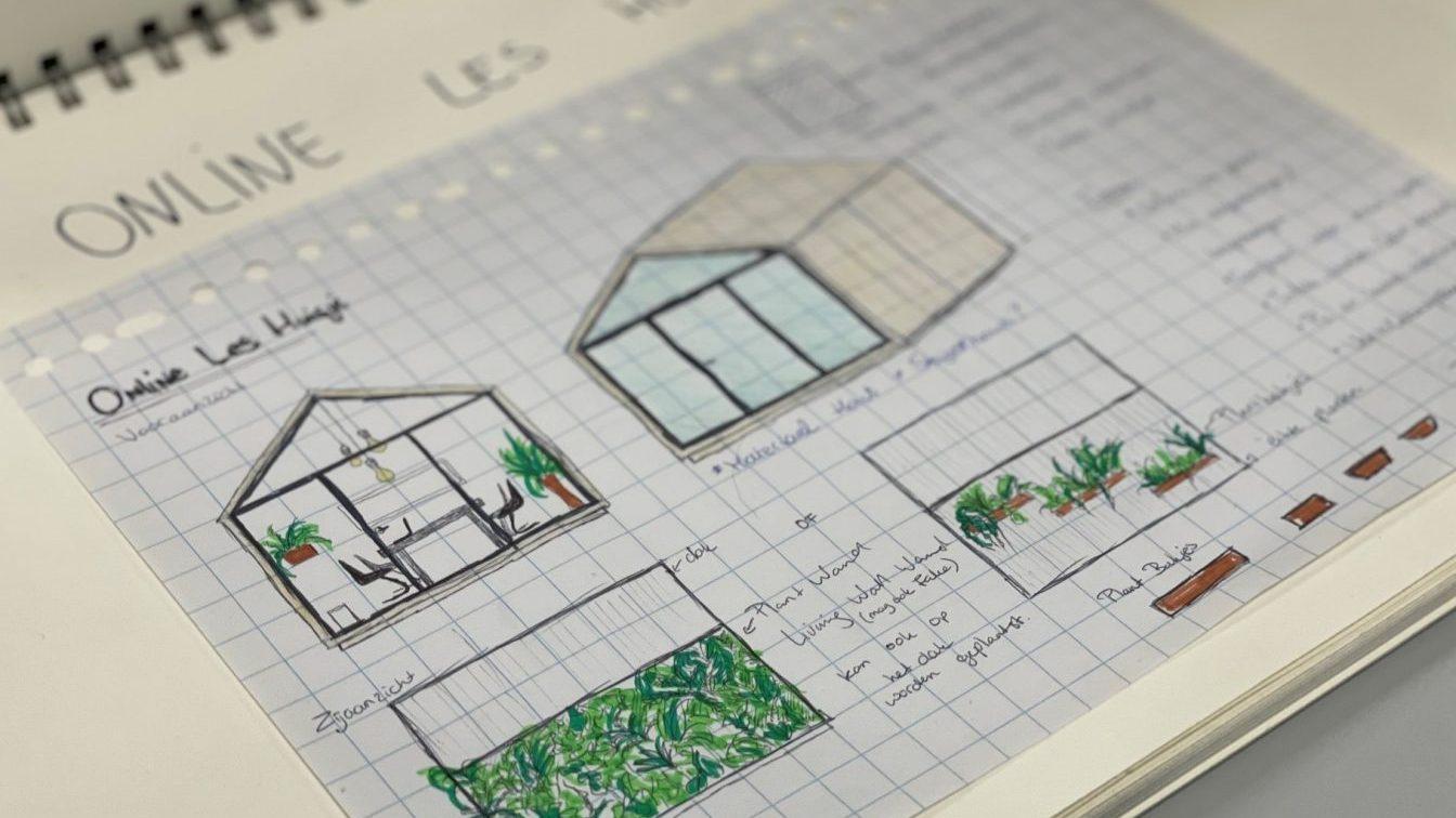 Stagiaire Techniek Innovatie Huis ontwerpt multifunctioneel leshuisje