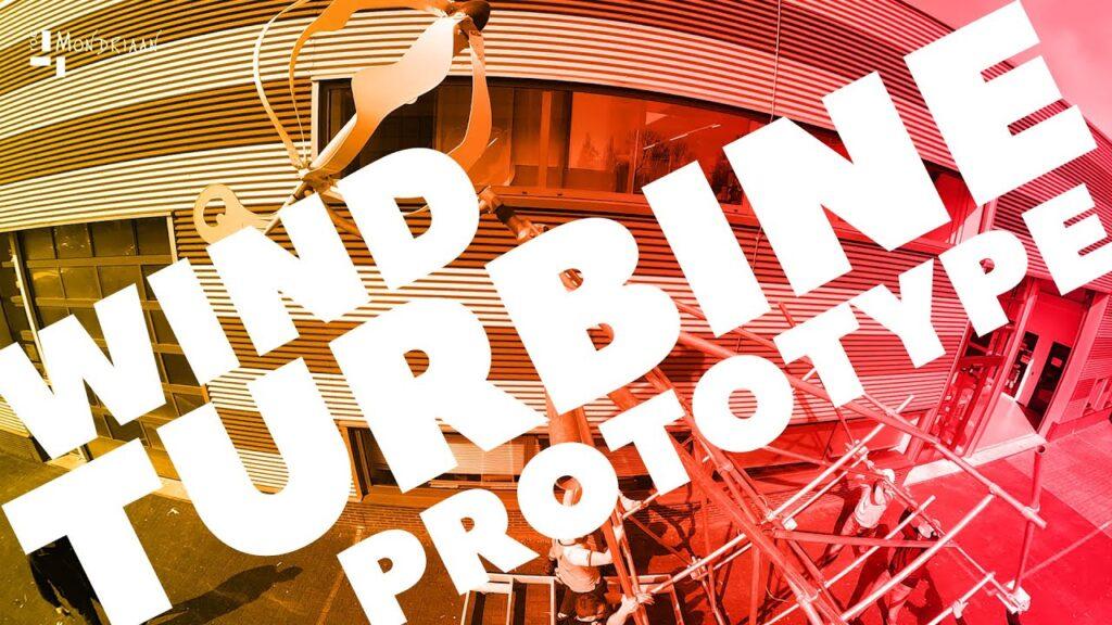 Studenten ROC Mondriaan bouwen een windturbine